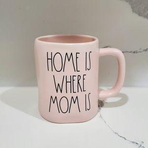 "RAE DUNN ""HOME IS WHERE MOM IS"" COFFEE MUG"